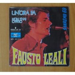 FAUSTO LEALI - UN´ORA FA - SINGLE