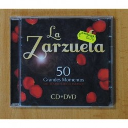 VARIOS - LA ZARZUELA 50 GRANDES MOMENTOS - CD + DVD