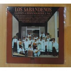 LOS SABANDEÑOS - CANTAN A HISPANOAMERICA VOL 3 - LP