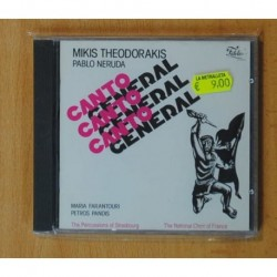 MIKIS THEODORAKIS / PABLO NERUDA - CANTO GENERAL - CD