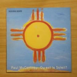 PAUL MCCARTNEY - OU EST LE SOLEIL - MAXI
