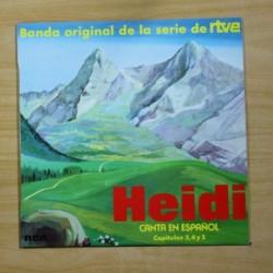 VARIOS - HEIDI CANTA EN ESPAÑOL CAPITULOS 3, 4 Y 5 - LP