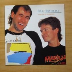 FISH / TONY BANKS - SHORT CUT TO SOMEWHERE - LP