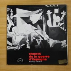 VARIOS - CHANTS DE LA GUERRE D´ESPAGNE - GATEFOLD - LP