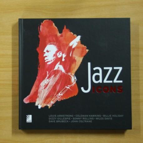 JAZZ ICONS - INCLUYE 8 CD - LIBRO