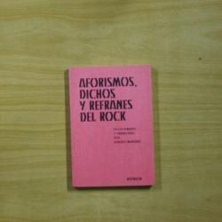 ALBERTO MANZANO - AFORISMOS DICHOS Y REFRANES DEL ROCK - LIBRO