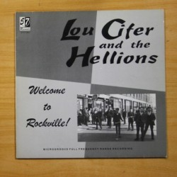 LOU CIFER AND THE HELLIONS - WELCOME TO ROCKVILLE - VINILO ROJO - LP