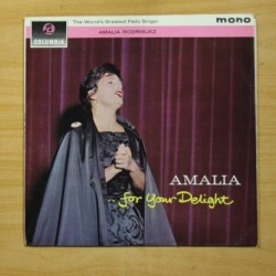 AMALIA RODRIGUES - FOR YOUR DELIGHT - LP