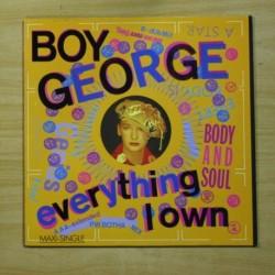 BOY GEORGE - EVERYTHING I OWN - MAXI