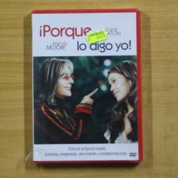 PORQUE LO DIGO YO - DVD