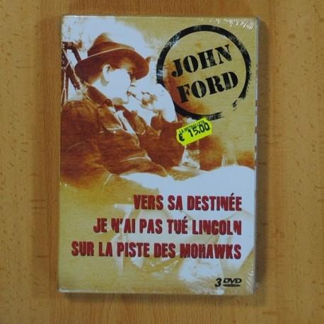 JOHN FORD - VERS SA DESTINEE / JE N'AI PAS TUE LINCOLN / SUR LA PISTE DES MOHAWKS - DVD EN FRANCES - 3 DVD