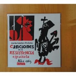 CHICHO SANCHEZ FERLOSIO - CANCIONES DE LA RESISTENCIA ESPAÑOLA AÑO 1963 - 10 PULGADAS - LP