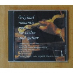 CLAIRE JOLIVET / AGUSTIN MARURI - ORIGINAL ROMANTIC MUSIC FOR VIOLIN AND GUITAR - CD