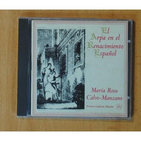 MARIA ROSA CALVO-MANZANO - EL ARPA EN EL RENACIMIENTO ESPAÑOL - CD
