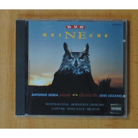 ANTONIO SORIA / JOSE LOZANO - REINECKE - CD