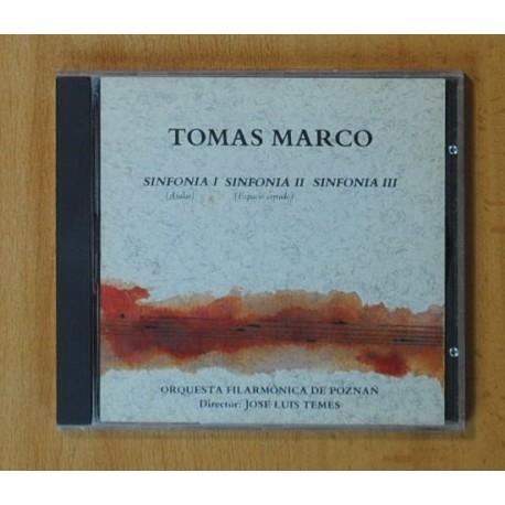 TOMAS MARCO - SINFONIA I SINFONIA II SINFONIA III - CD
