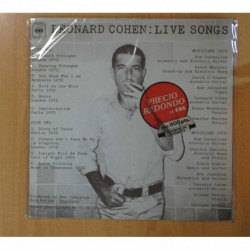 LEONARD COHEN - LIVE SONGS - LP