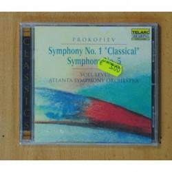 SERGEI PROKOFIEV / YOEL LEVI - SYMPHONY NO. 1 CLASSICAL NO. 5 - CD