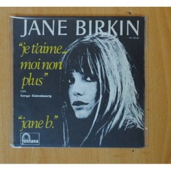 JANE BIRKIN - JE T`AIME... MOI NON PLUS / JANE B. - SINGLE