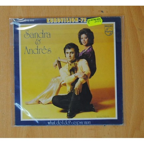 SANDRA & ANDRES - EUROVISION 72 - WHAT DO I DO? / GYPSY MAN - SINGLE