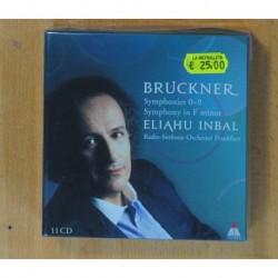 BRUCKNER / ELIAHU INBAL - SYMPHONIES 0-9 / SYMPHONY IN F MINOR - 11 CD