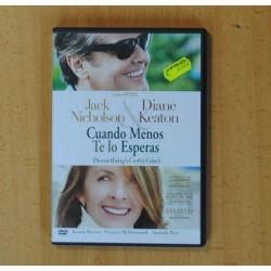 CUANDO MENOS TE LO ESPERAS - DVD