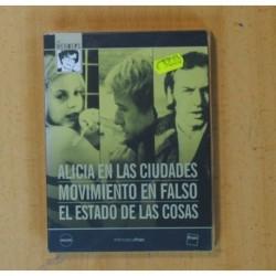 ALICIA EN LAS CIUDADES / MOVIMIENTO EN FALSO / EL ESTADO DE LAS COSAS - DVD