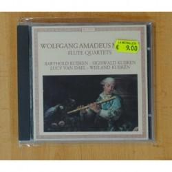WOLFGANG AMADEUS MOZART / BARTHOLD KUIJKEN - FLUTE QUARTETS - CD