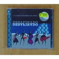 VARIOS - DESAFINADO / 37 CLASICOS INOLVIDABLES DEL BRASIL - 2 CD
