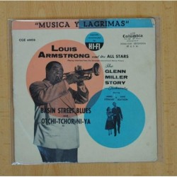 LOUIS ARMSTRONG - BASIN STREET BLUES / OJOS NEGROS - SINGLE
