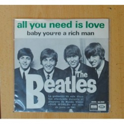 THE BEATLES - ALL YOU NEED IS LOVE / BABY YOU´RE A RICH MAN - SINGLE