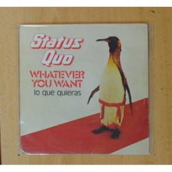 STATUS QUO - WHATEVER YOU WANT / HARD RIDE - SINGLE