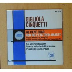 GIGLIOLA CINQUETTI - NO TIENE EDAD + 3 - EP