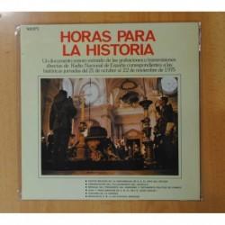 RADIO NACIONAL DE ESPAÑA - HORAS PARA LA HISTORIA - LP