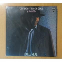CAMARON PACO DE LUCIA Y TOMATITO - CALLE REAL - VINILO COLOR - LP