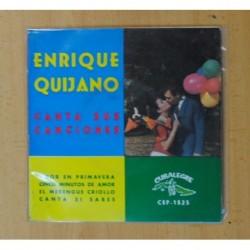 ENRIQUE QUIJANO - CANTA SUS CANCIONES - AMOR EN PRIMAVERA + 3 - EP