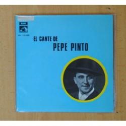PEPE PINTO - EL CANTE DE PEPE PINTO - EL CORAZON DE PENA TENGO TRASPASAO + 3 - EP