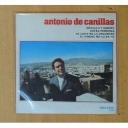 ANTONIO DE CANILLAS - ORGULLO Y DINERO + 3 - EP