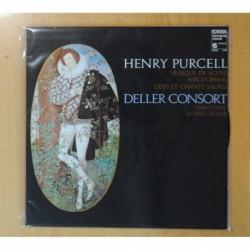 HENRY PURCELL / ALFRED DELLER - MUSIQUE DE SCENE / AIRS D OPERAS 7 ODES ET CHANTS SACRES - LP