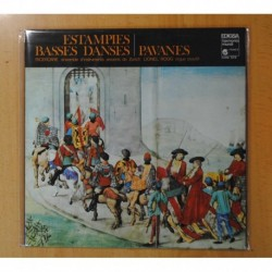 RICERCARE ENSEMBLE D INSTRUMENTS ANCIENS DE ZURICH / LIONEL ROGG - ESTAMPIES BASSES DANSES PAVANES - GATEFOLD - LP