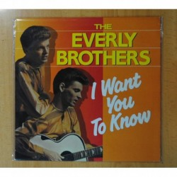 THE EVERLY BROTHERS - I WANT YOU TO KNOW - LP