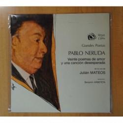 JULIAN MATEOS - GRANDES POETAS PABLO NERUDA - LP