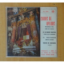 ORQUESTA Y COROS DE LA OPERA DE BERLIN - COROS DE OPERAS NABUCCO - CORO DE ESCLAVOS + 3 - EP