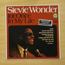 STEVIE WONDER - FOR ONCE IN MY LIFE - LP
