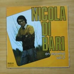 NICOLA DI BARI - EN ESPAÑOL VOL 2 - LP