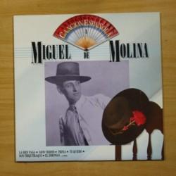 MIGUEL DE MOLINA - ANTOLOGIA DE LA CANCION ESPAÑOLA - LP