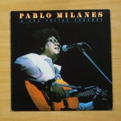 PABLO MILANES - A LOS POETAS CUBANOS - LP