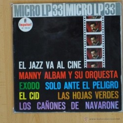 MANNY ALBAM Y SU ORQUESTA - EL JAZZ VA AL CINE - BSO - SINGLE