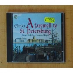 GLINKA - A FAREWELL TO ST. PETERSBURG - CD