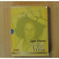 LOLA FLORES EL CORAJE DE VIVIR - 5 DVD